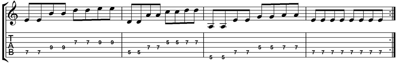Photo Generic Guitar TAB