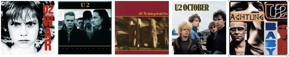 Photo U2 ALBUM COVERs